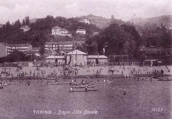 ntico stabilimento balneare di Torino visto dalla sponda opposta